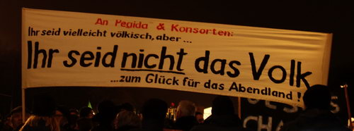 "Anti-""Pegida""-Demo in Berlin am 12. Januar 2015 - Foto: M. Wiens"